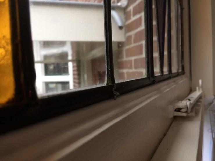 Glas in lood achter dubbele beglazing