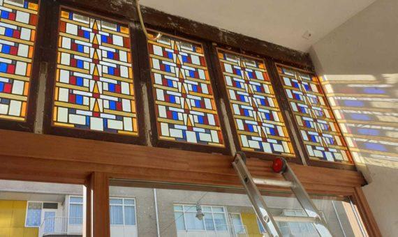 glas in lood ramen repareren