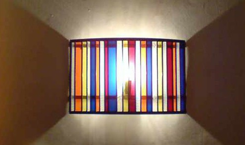 Glas in lood lamp